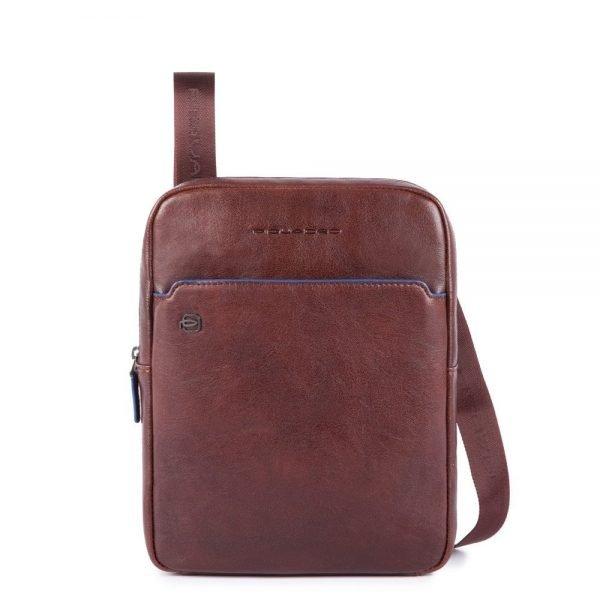 "Piquadro Blue Square iPad 10.5""/iPad 9.7"" Crossbody Bag dark brown"