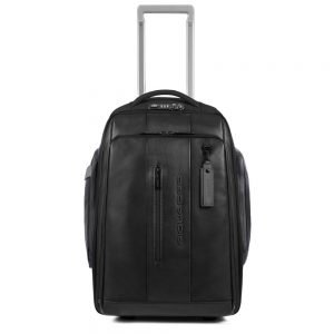 Piquadro Urban Cabin size PC and iPad Trolley Backpack with USB black backpack