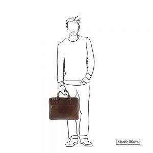 """Plevier Urban Surrey Laptoptas 1 vaks 17.3"""" cognac"""