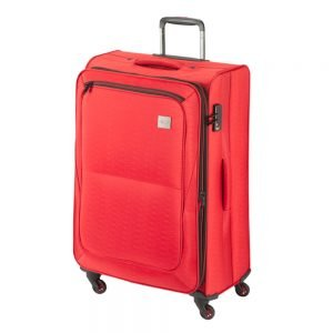 Princess Traveller Colombo 4 Wiel Trolley L red Zachte koffer