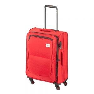 Princess Traveller Colombo 4 Wiel Trolley M red Zachte koffer