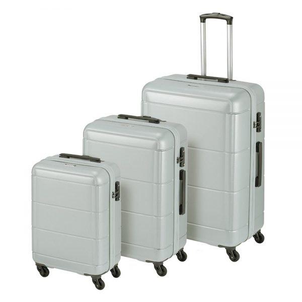 Princess Traveller Macau 3 Delige Kofferset silver
