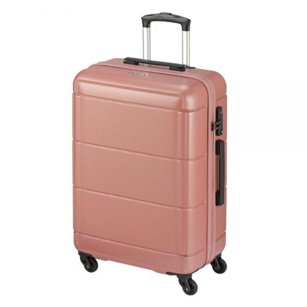 Princess Traveller Macau 4 Wiel Trolley L pink Harde Koffer