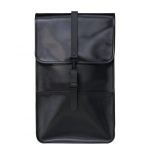 Rains Backpack shiny black backpack