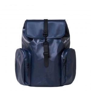 Rains Oversize Rucksack shiny blue backpack