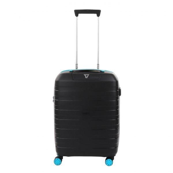 Roncato Box 2.0 Young 4 Wiel Cabin Trolley 55/20 azzuro/nero Harde Koffer