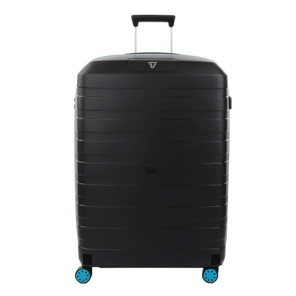 Roncato Box 2.0 Young Large 4 Wiel Trolley 78 azzuro/nero Harde Koffer
