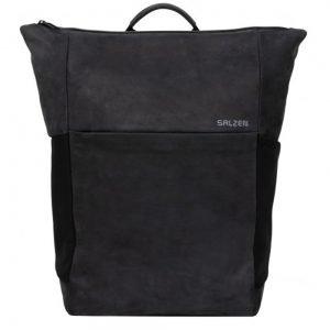 Salzen Vertiplorer Plain Backpack Leather black / charcoal backpack