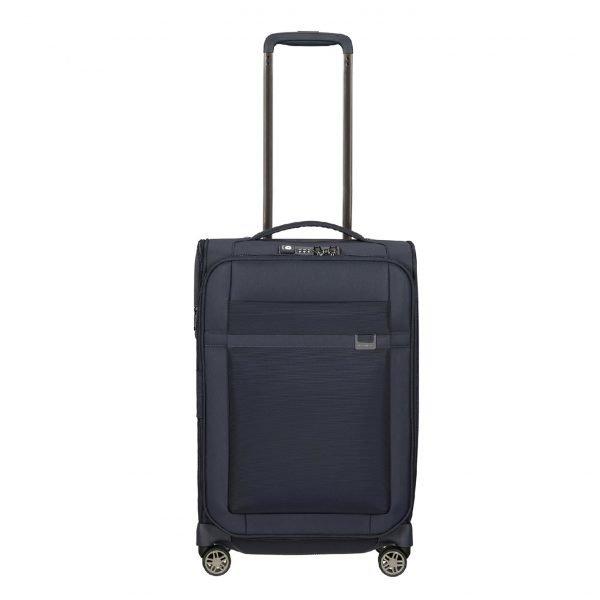 Samsonite Airea Spinner 55 Exp Lenght 35 cm dark blue Zachte koffer
