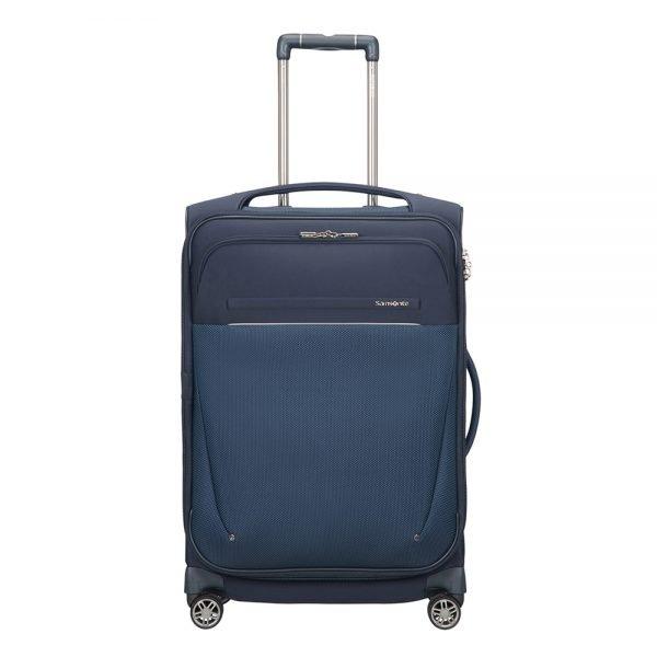Samsonite B-Lite Icon Spinner 63 Expandable dark blue Zachte koffer