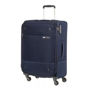 Samsonite Base Boost Spinner 66 Expandable navy blue Zachte koffer