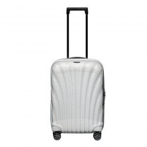 Samsonite C-Lite Spinner 55 Exp off white Harde Koffer