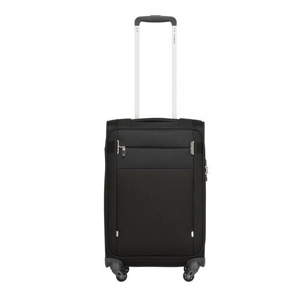 Samsonite Citybeat Spinner 55/35 black Zachte koffer