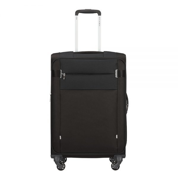 Samsonite Citybeat Spinner 66 Exp black Zachte koffer
