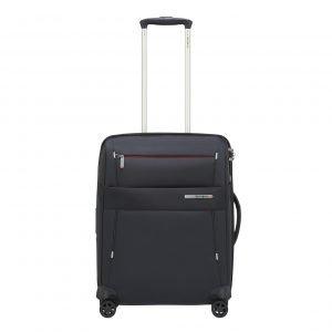 Samsonite Duopack Spinner 55 Exp 2 Frame blue Zachte koffer