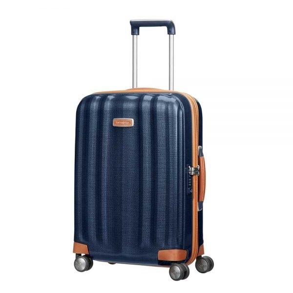 Samsonite Lite-Cube DLX Spinner 55 midnight blue Harde Koffer