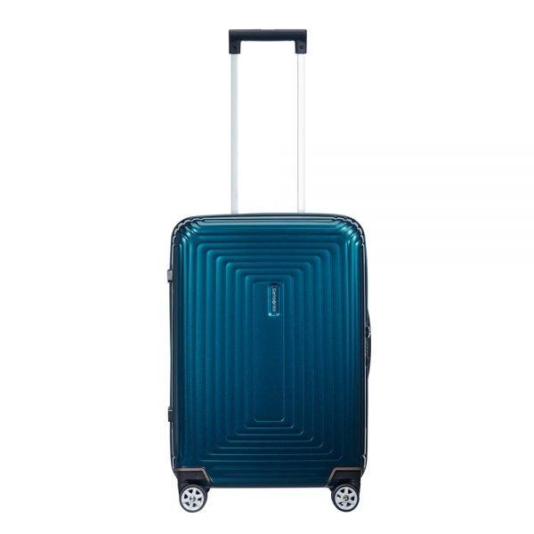 Samsonite Neopulse Spinner 55 metallic blue Harde Koffer