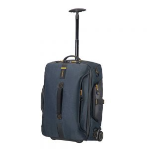 Samsonite Paradiver Light Duffle Wheels Backpack 55 jeans blue Handbagage koffer Trolley