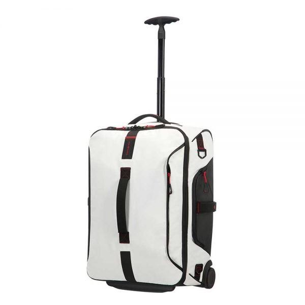 Samsonite Paradiver Light Duffle Wheels Backpack 55 white Handbagage koffer Trolley