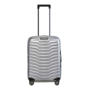 Samsonite Proxis Spinner 55 Expandable silver Harde Koffer