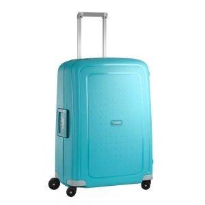 Samsonite S'Cure Spinner 69 aqua blue Harde Koffer
