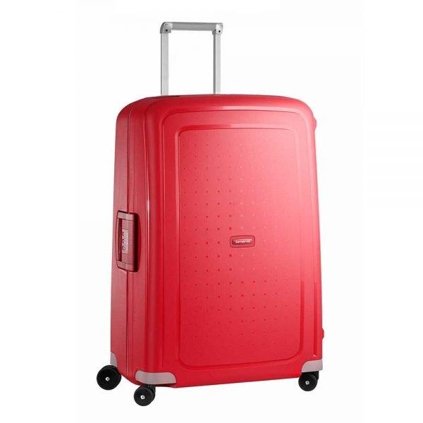 Samsonite S'Cure Spinner 75 crimson red Harde Koffer