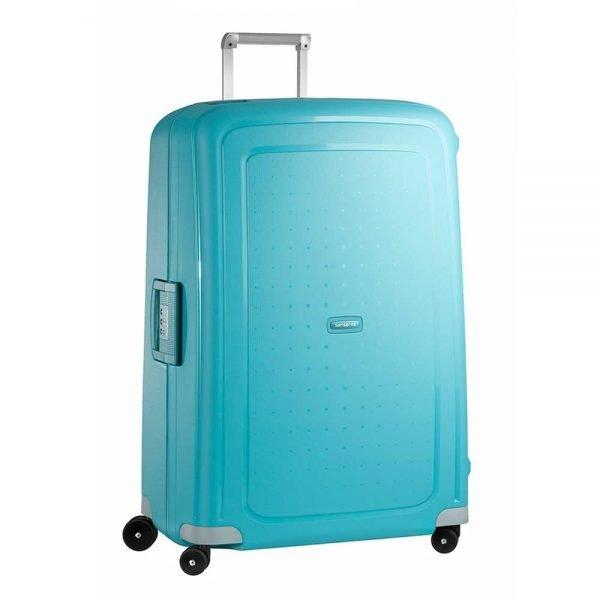 Samsonite S'Cure Spinner 81 aqua blue Harde Koffer