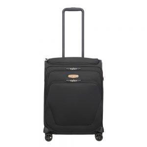 Samsonite Spark SNG Eco Spinner 55 Toppocket eco black Zachte koffer