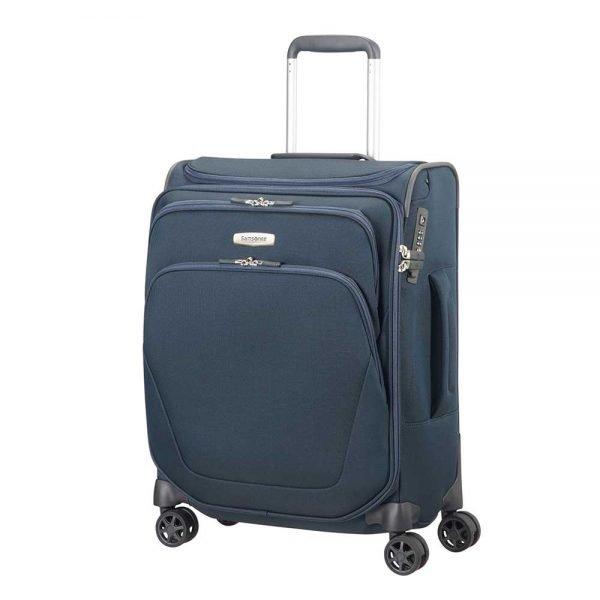 Samsonite Spark SNG Spinner 55 Toppocket blue Zachte koffer