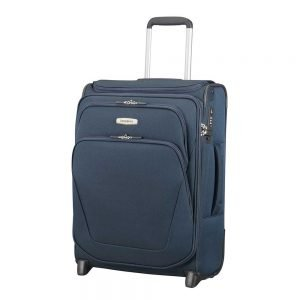 Samsonite Spark SNG Upright 55 Expandable Toppocket blue Zachte koffer