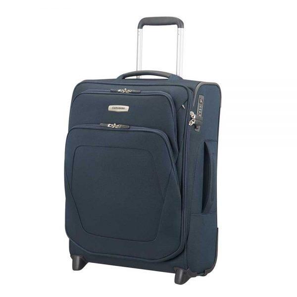 Samsonite Spark SNG Upright 55 Expandable blue Zachte koffer