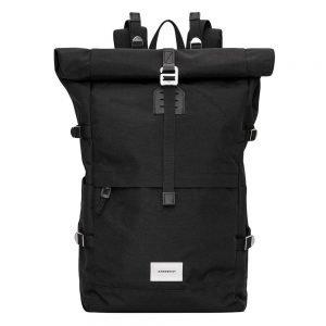 Sandqvist Bernt Backpack black with black leather backpack