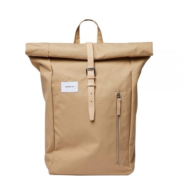 Sandqvist Dante Backpack beige with natural leather backpack