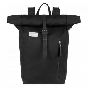 Sandqvist Dante Backpack black with black leather backpack