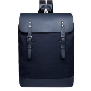 Sandqvist Hege Backpack navy with navy leather backpack