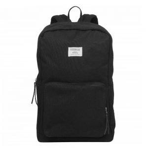 Sandqvist Kim Backpack black with black leather backpack