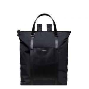 Sandqvist Marta Backpack black with black leather backpack