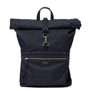 Sandqvist Siv Backpack black with black leather backpack