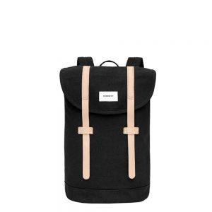 Sandqvist Stig Backpack black with natural leather backpack