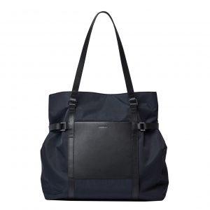 Sandqvist Thea Tote Bag black with black leather
