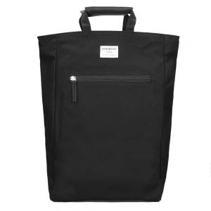 Sandqvist Tony Backpack black with black leather backpack
