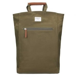Sandqvist Tony Backpack olive with cognac brown backpack