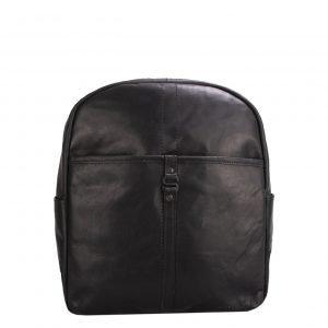 Spikes & Sparrow Backpack black Leren tas
