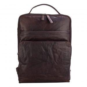 Spikes & Sparrow Backpack dark brown Leren tas