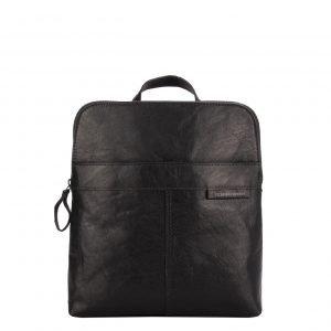 Spikes & Sparrow Bronco Backpack black Leren tas