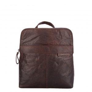 Spikes & Sparrow Bronco Backpack dark brown Leren tas