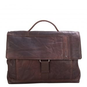 Spikes & Sparrow Bronco Briefcase dark brown