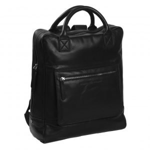 The Chesterfield Brand Yonas Laptop Backpack black backpack