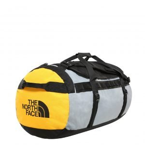 The North Face Gilman Duffel L tnf black / mid grey / tnf yellow Weekendtas