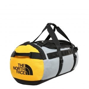 The North Face Gilman Duffel M tnf black / mid grey / tnf yellow Weekendtas